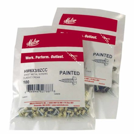 Two Bags of Malco's Painted Sheet Metal Screws